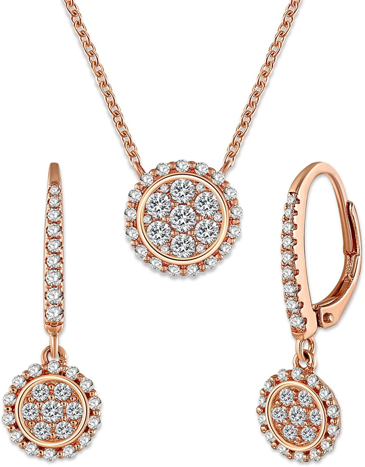 Amazon Com George Smith Wedding Necklaces And Earrings Set For