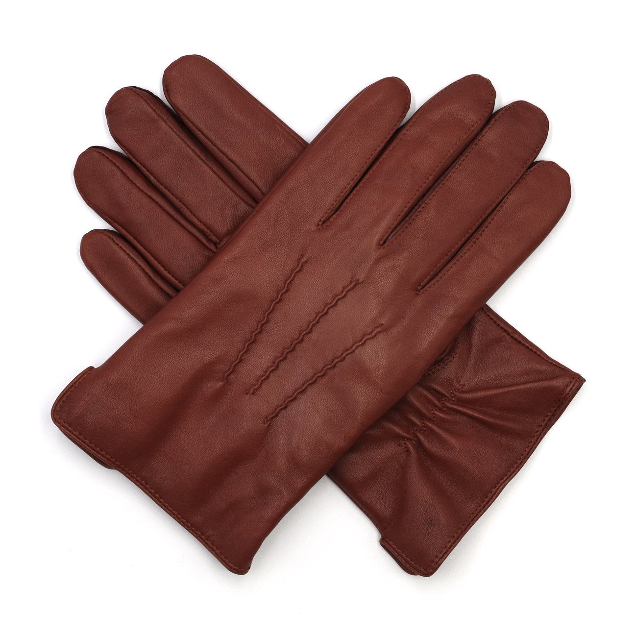 e3846d5b6 Harssidanzar Mens Luxury Italian Sheepskin Leather Gloves Vintage Finished  Cashmere Wool Lined at Amazon Men's Clothing store