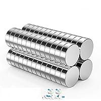 100 Imames de Neodimio Super Potentes N42 Redondo y Magnéticos Permanentes Planos de 10mm x 2mm de espesor CGGK TECH