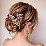 Unicra Bride Wedding Crystal Hair Pins Flower Bridal Hair Pieces Wedding Hair Accessories for Women and Girls Pack of 3…
