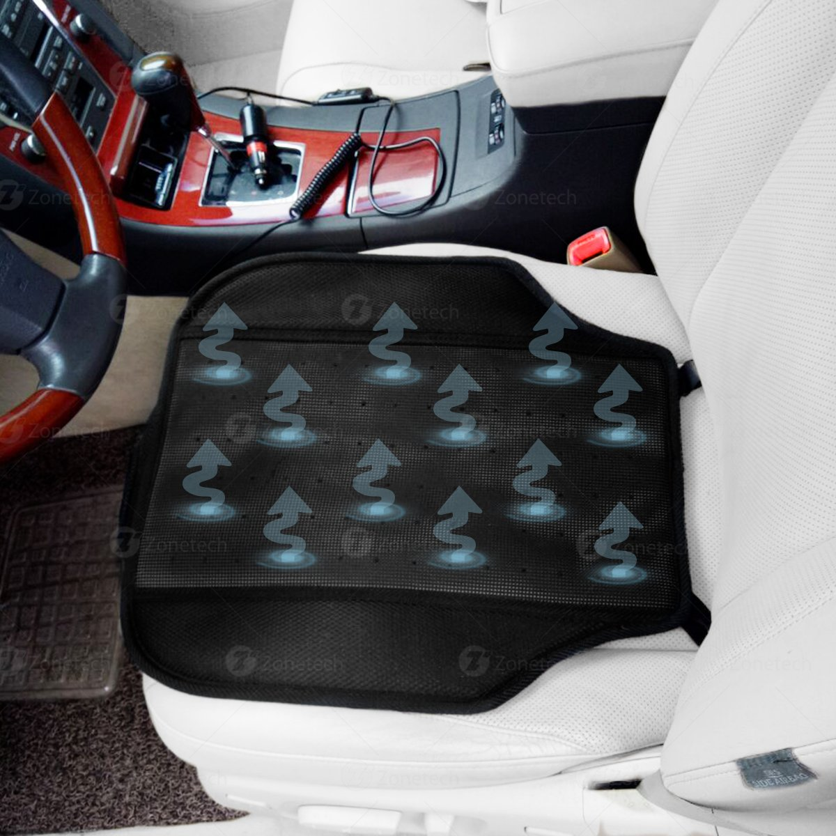 Zone Tech Car Vehicle Pad Seat Cooler Cushion Cover Summer Cooling