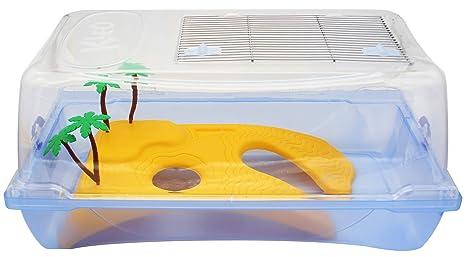 BPS Tortuguera Isla Tanque Abierta Plástico para Tortugas Acuaterrario de Agua 2 Tamaños para Elegir (