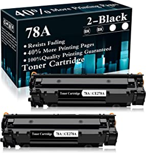 2 Black 78A | CE278A Toner Cartridge Replacement for HP Laserjet Pro P1606dn P1606 P1566 P1560 M1536dnf MFP M1537dnf MFP M1538dnf MFP M1530 MFP Printer,Sold by TopInk