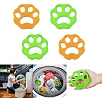 DKStarry Pet Hair Remover for Laundry, Dog and Cat Hair Catcher for Dryer, Washing Machine, 4-Pack Reusable Sticky…
