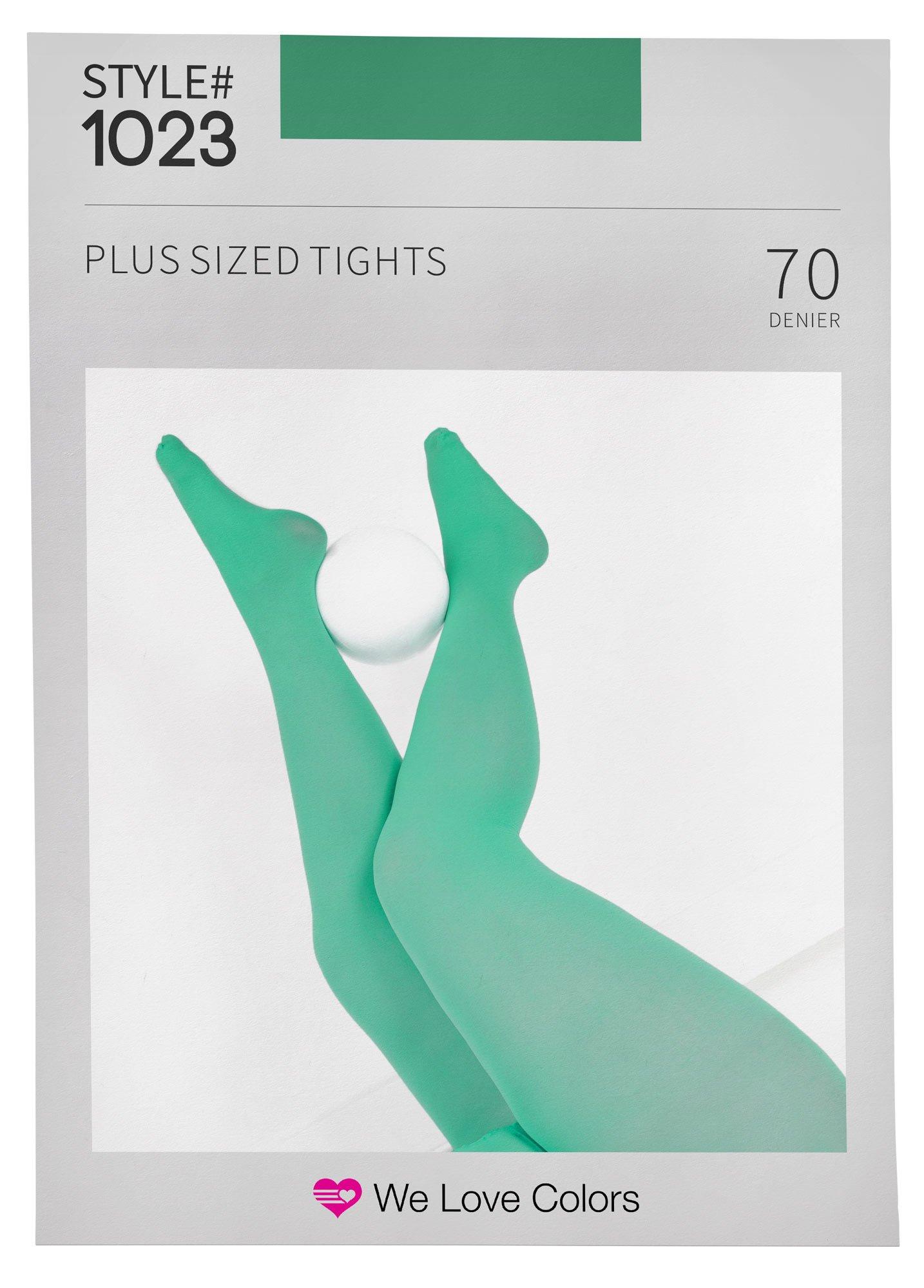 Nylon/Spandex Plus Size Tights - ScoutGreen - 4X