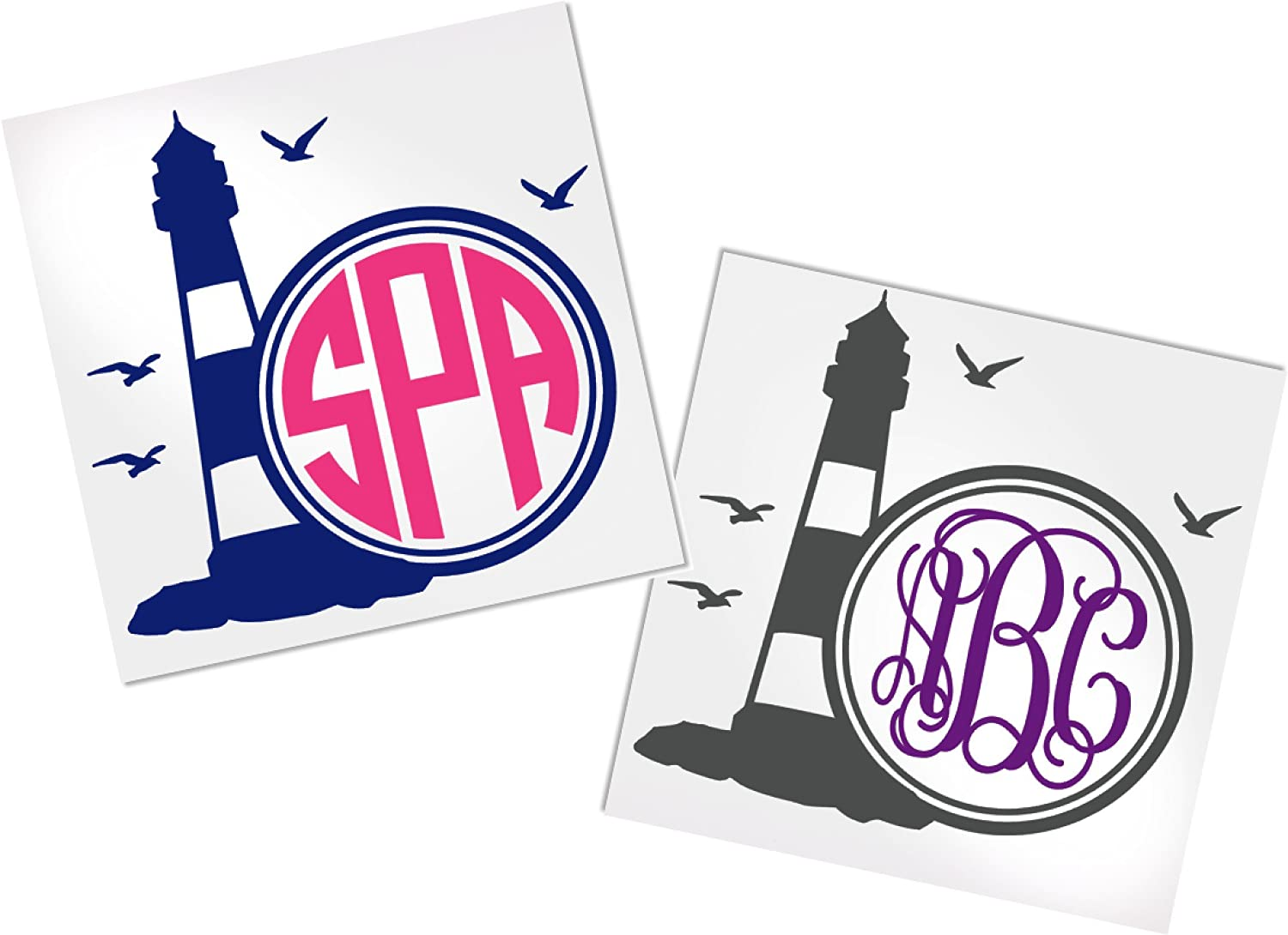 Lighthouse Decal Stickers for Yeti, Car or Laptop - Your Choice of Color & Style | Decals by ADavis