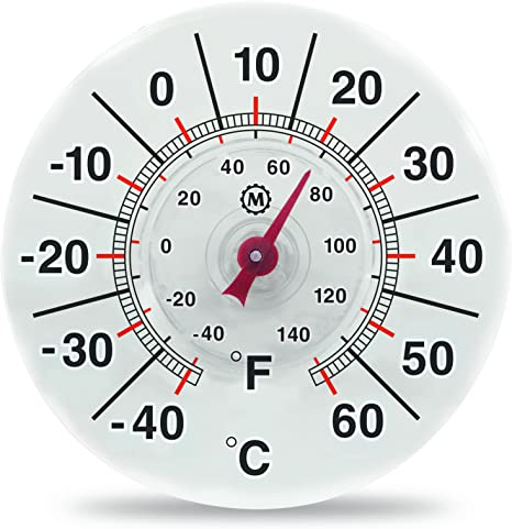 """7/"""" Round Suction Window Thermometer"""