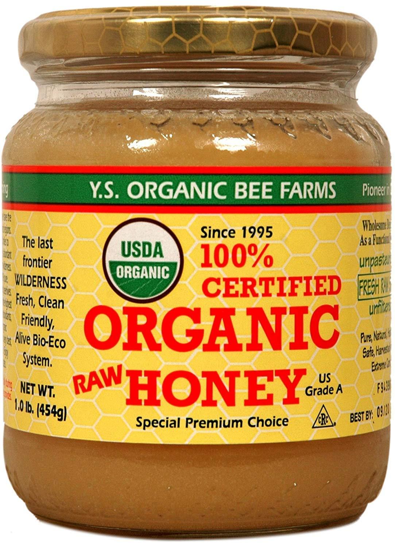 Y.S. Eco Bee Farms 100% Certified Organic Raw Honey 1 lb (454 grams) Paste (3)