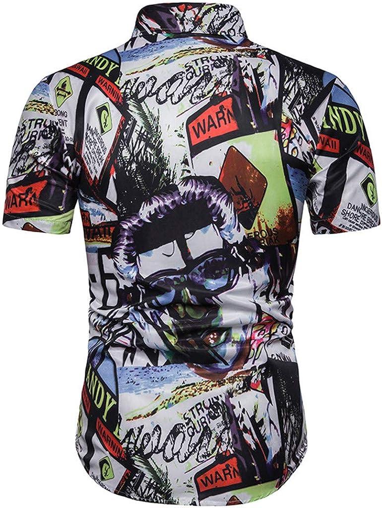 Xmiral - Camisa para Hombre de Manga Corta con Estampado ...