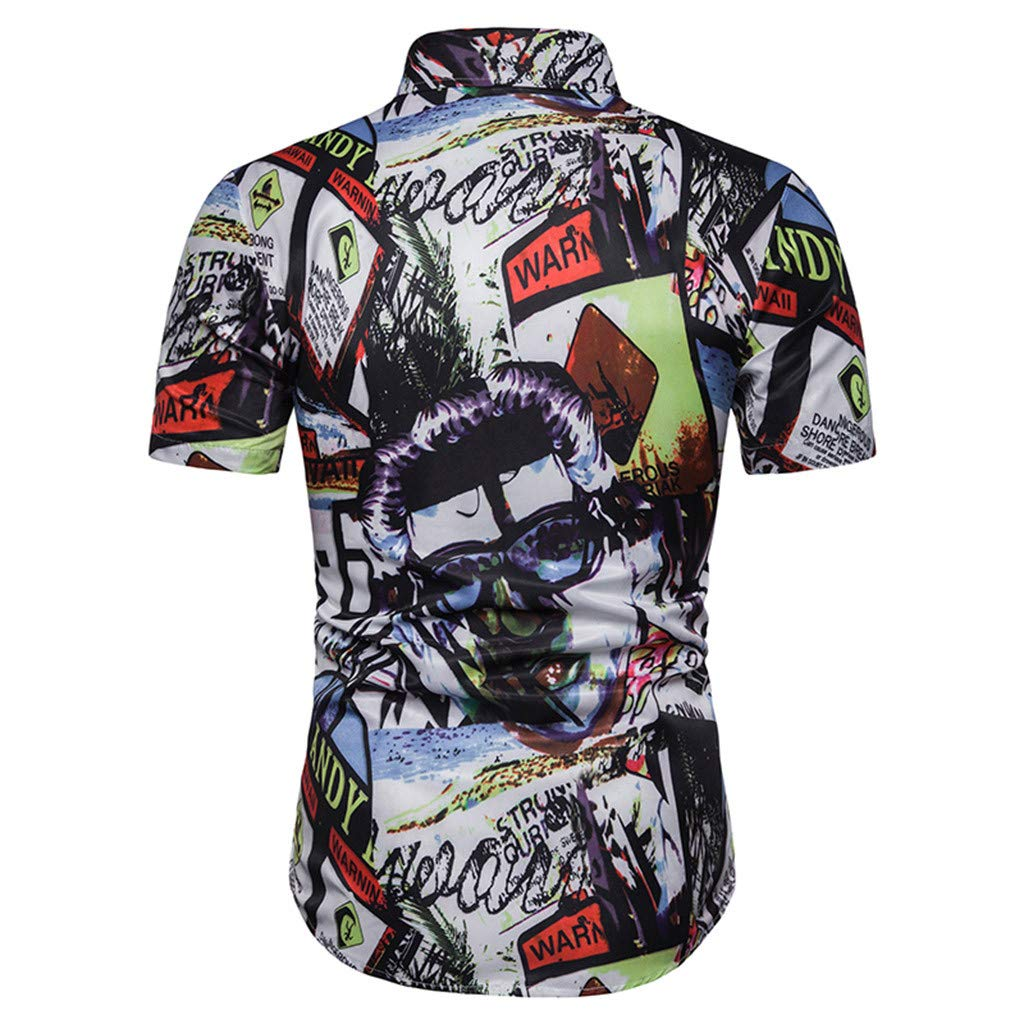 Xmiral - Camisa para Hombre de Manga Corta con Estampado 3D XL ...