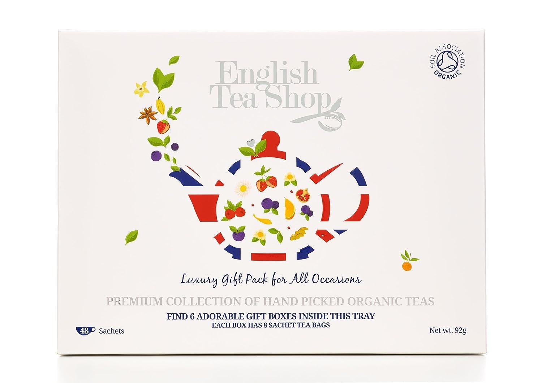 f5cdf012aa8 English Tea Shop Organic Luxury Gift Tray (Pack of 48 Tea Bags)  Amazon.co.uk   Grocery
