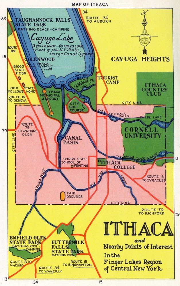 再再販! Ithaca x、ニューヨーク – Giclee 詳細なマップはがきのIthacaと近くの点のinterest 36 x 54 Giclee LANT-18564-36x54 Print LANT-18564-36x54 B01MG3B89P 36 x 54 Giclee Print 36 x 54 Giclee Print, 39サンキューメガネ:de212f0c --- akdeveloper.in