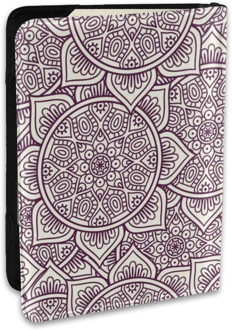 Simple Bohemian Ethnic Style Fashion Leather Passport Holder Cover Case Travel Wallet 6.5 In