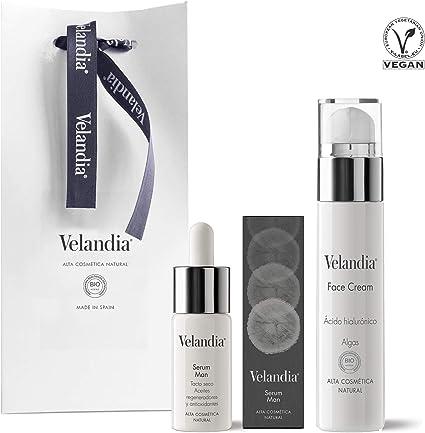 Pack Cosmética Man (2ref.) Velandia® Crema facial 50 ml. - Serum ...