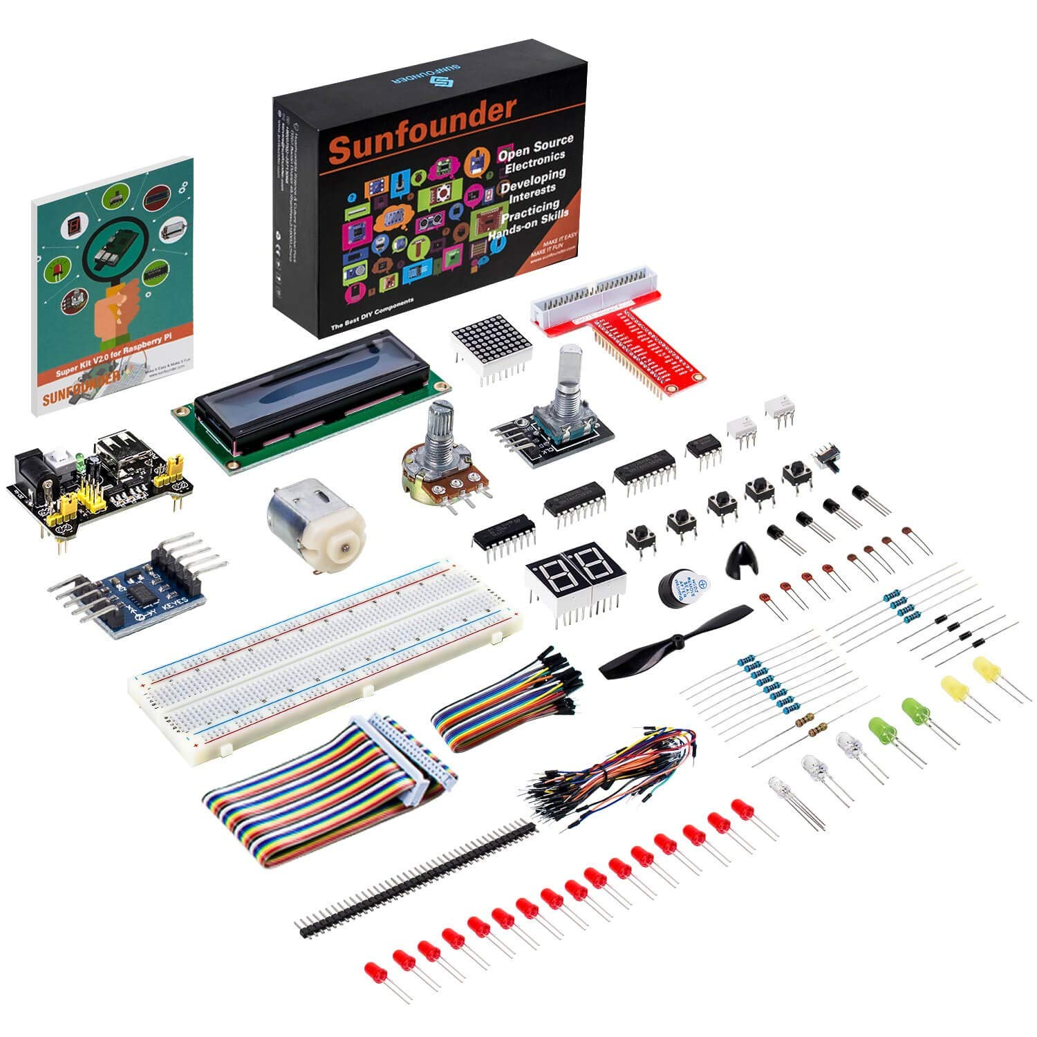 Surprising Sunfounder Raspberry Pi Starter Kit Project For Rpi 3B 3B 2B B A Wiring Digital Resources Cettecompassionincorg