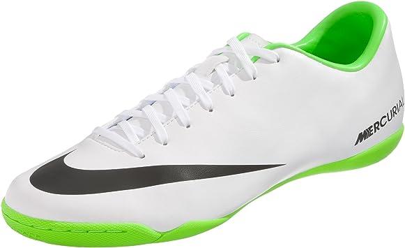 Desaparecido habilidad Satisfacer  Nike Mercurial Victory IV IC – Zapatillas de Fútbol Sala Modelo 2014, Weiß  (White/Black/Electric Green), 10.5: Amazon.es: Deportes y aire libre