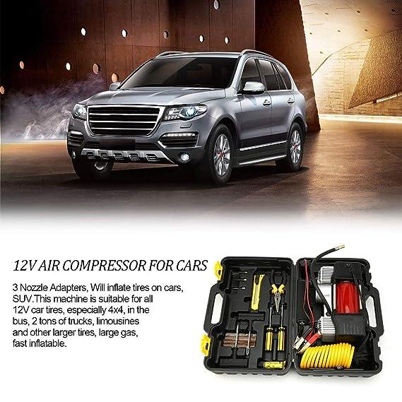Formulaone 12V 150 PSI Emergency Heavy Duty Car Van 4x4 Neumático Compresor de Aire Kit inflador Bomba para Coches SUV Camiones con Doble Cilindro: ...