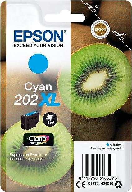 Epson Original 202xl Tinte Kiwi Xp 6000 Xp 6005 Xp 6100 Xp 6105 Amazon Dash Replenishment Fähig Cyan Bürobedarf Schreibwaren