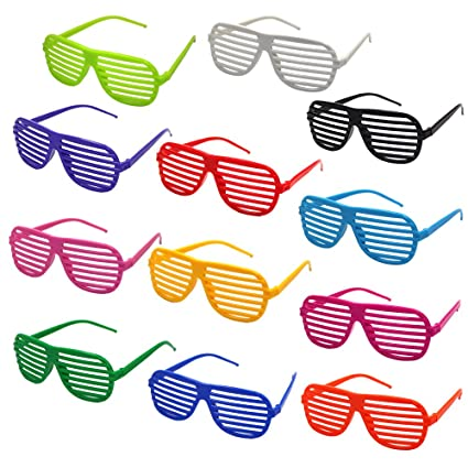 81d524a93f Image Unavailable. Image not available for. Color  M-Aimee Shutter Glasses  Shades Sunglasses for Party ...