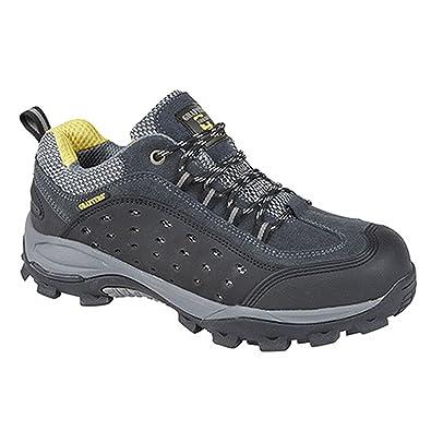 Grafters - Zapatillas de trabajo/Seguridad Laboral con puntera no metálica completamente integrada muy ligera para hombre (44 EU/Gris oscuro) DzQxiYJ