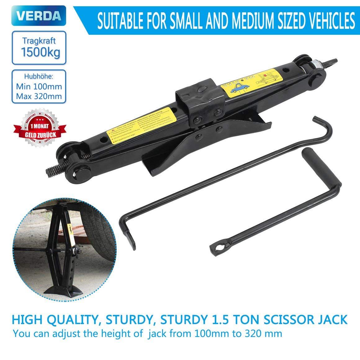 Funnyrunstore 1500kg Heavy Duty Scissor Manual Car Jacks Plataforma de elevaci/ón Herramienta profesional de reemplazo de rueda de neum/ático de elevaci/ón de autom/óvil