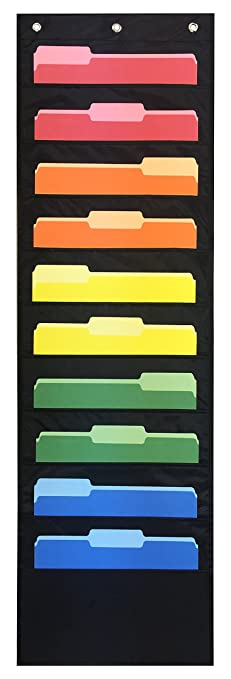 storage pocket chart hanging wall file organizer by essex wares organize your assignments