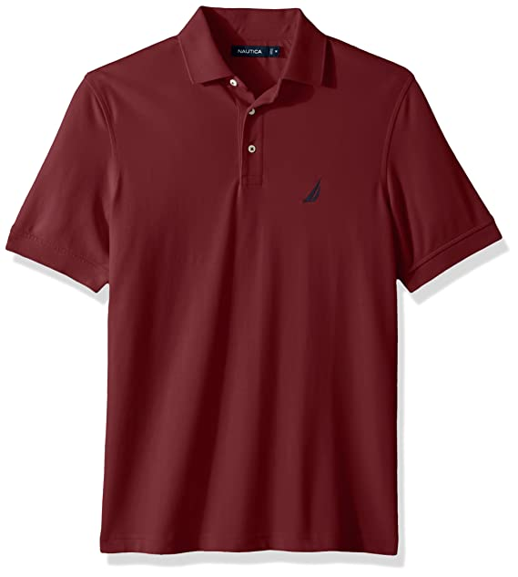 0d5978dc7 Nautica Men s s Short Sleeve Solid Stretch Cotton Pique Polo Shirt   Amazon.co.uk  Clothing