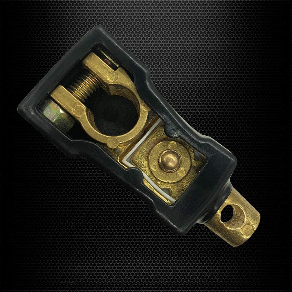Brass Battery Master Switch Isolator with Cover for Power Disconnect Cut Off Ampper Brass Top Post Battery Disconnect Switch