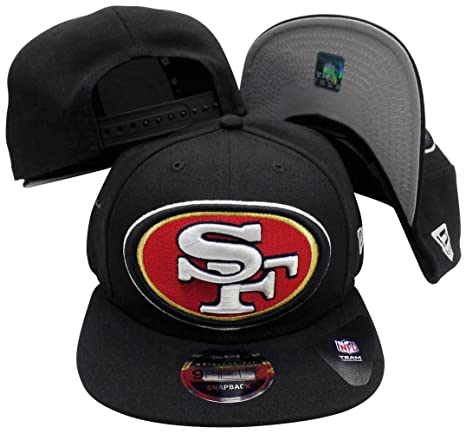 e0247cc8 Image Unavailable. Image not available for. Color: San Francisco 49ers  Black Logo Grand 9FIFTY Adjustable ...