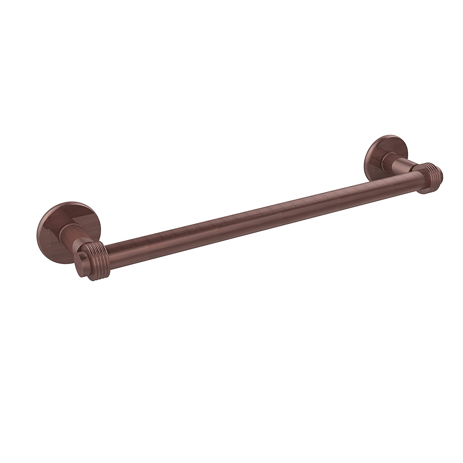 Allied Brass 2051G//24-CA Continental Collection 24 Inch Towel Bar with Groovy Detail 24-Inch Antique Copper
