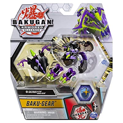 Bakugan Ultra, Darkus Sairus with Transforming Baku-Gear, Armored Alliance 3-inch Tall Collectible Action Figure…: Toys & Games
