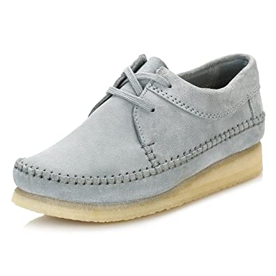 a7c29530ffb9 Clarks Womens Blue Grey Suede Weaver Shoes  Amazon.co.uk  Shoes   Bags