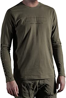 28a06f9b3a01e Musterbrand Halo Long-Sleeve T-Shirt Men Catapult with UNSC Print Green