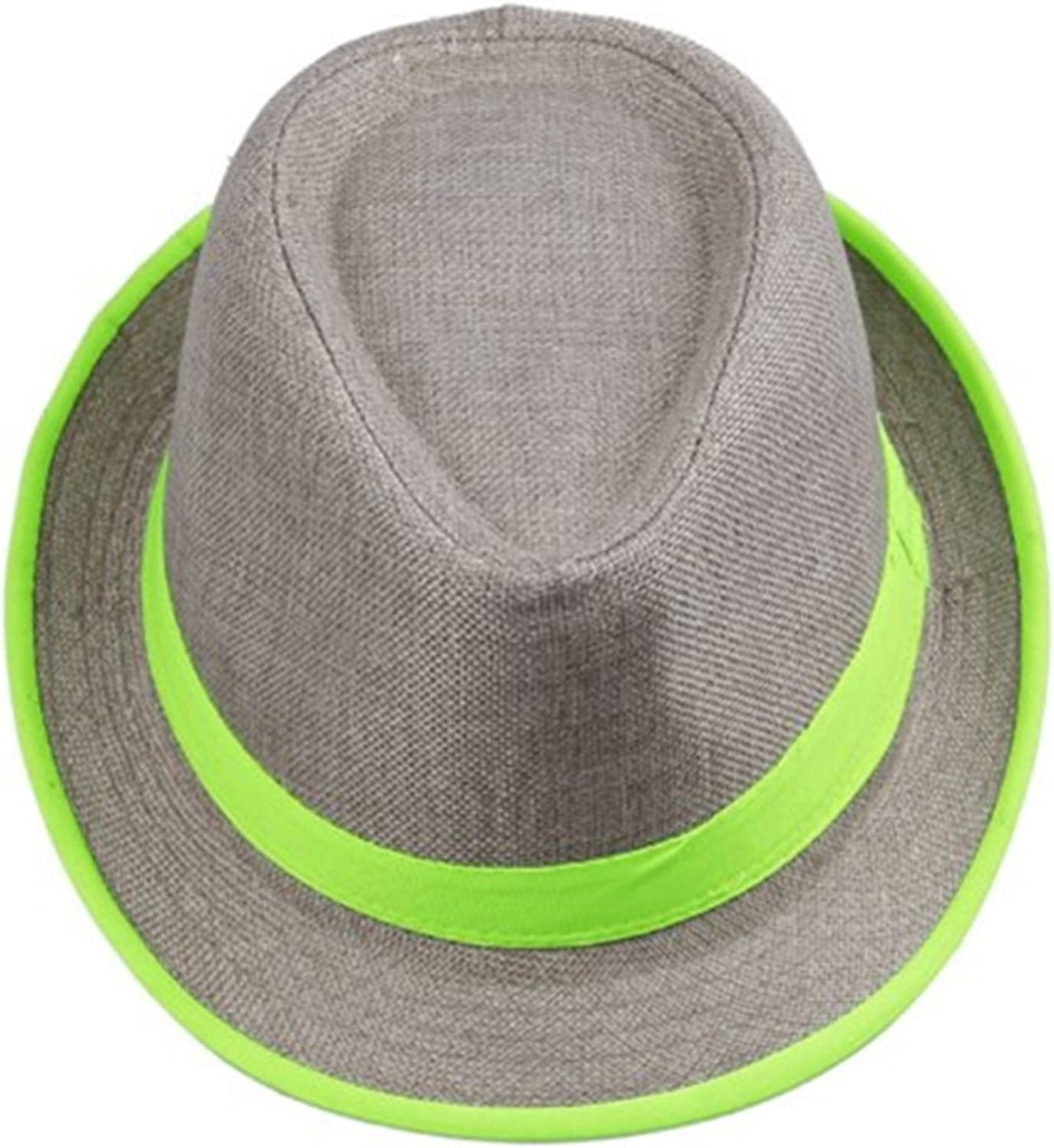 outfly Unisex Fedora Trilby Hut Top Hat 100/% Baumwolle Panama Stil Sommer Strand Sonne Jazz Cap