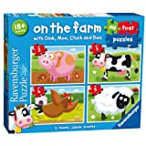Ravensburger My First Puzzle, On the Farm (2, 3, 4 & 5pc) Jigsaw Puzzles