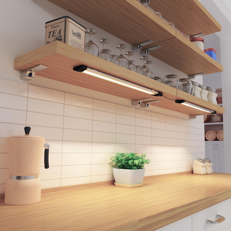 parlat LED Unterbau-Leuchte SIRIS flach 30cm 330lm weiß 5er Set einzeln / Lichtfarbe: Warmweiß