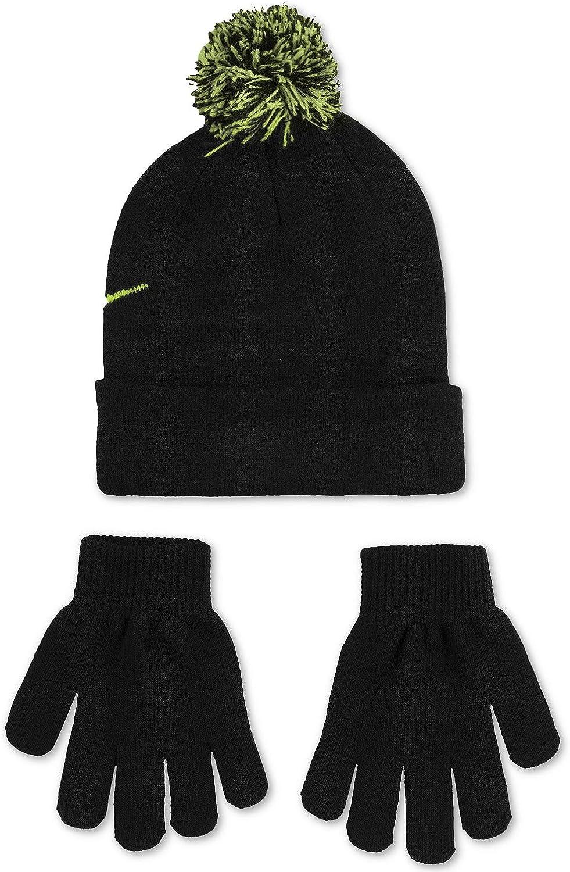 Little Kids//Big Kids Black//Blue Glow Nike Snow Stripe Set