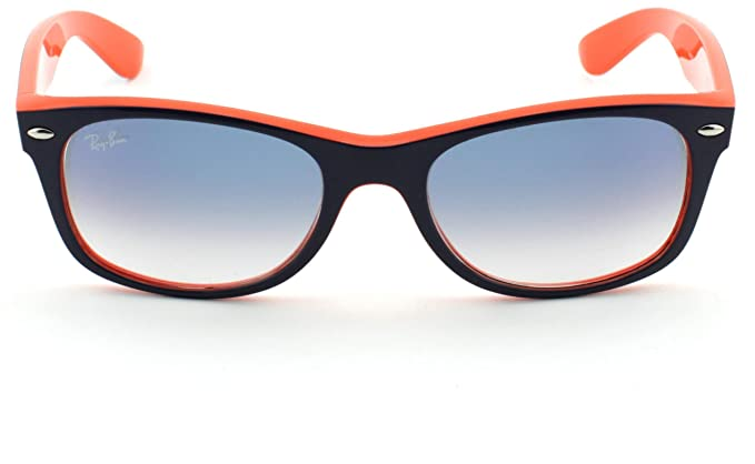 6dd2a622b9 Image Unavailable. Image not available for. Color  Ray-Ban RB2132 New Wayfarer  Blue Orange Frame Crystal Gradient Light Blue Lens 789