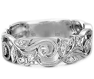 Ladies Ring-925 Sterling Silver Ladies Luxury Unique Wedding