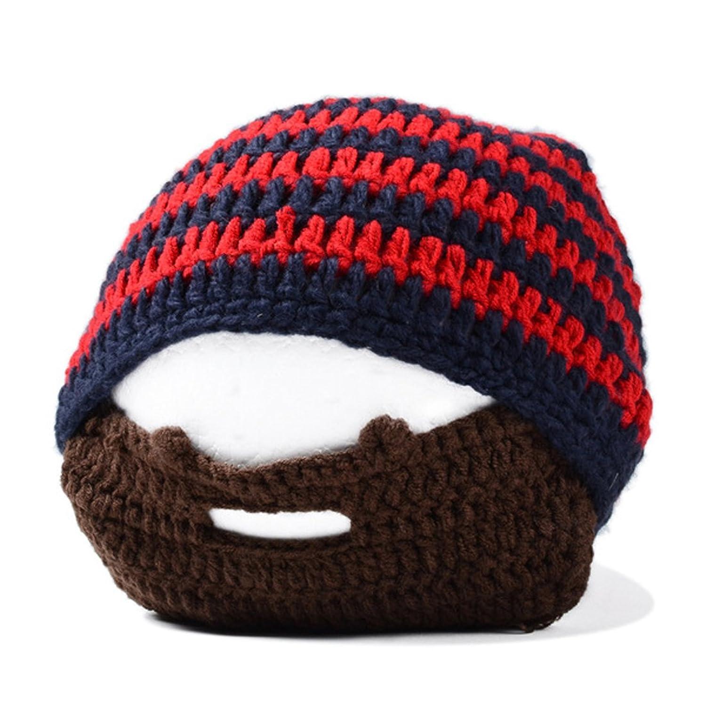 Kuyou Sturmhauben Lustige Bartmütze Unisex Stickmütze Skimaske Hut
