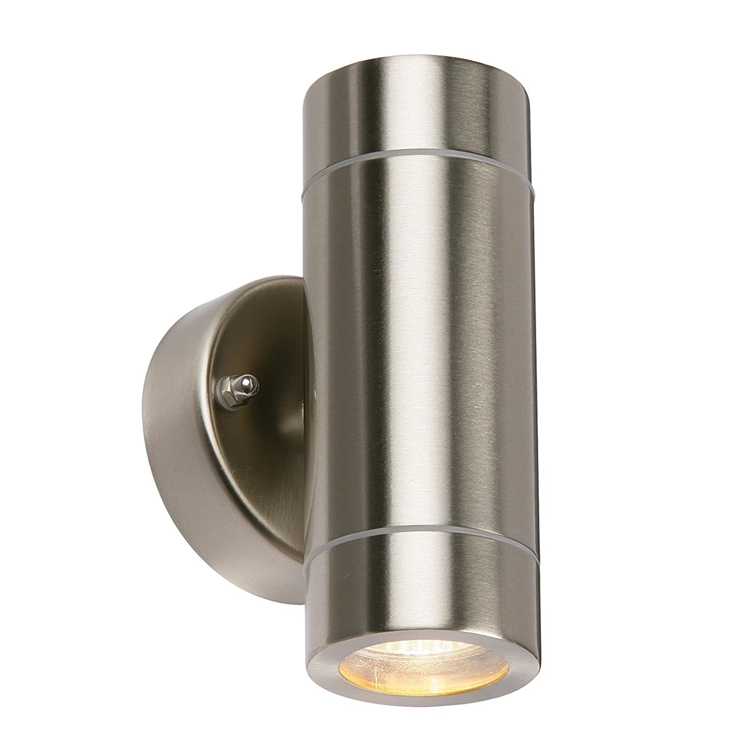Saxby Palin 35W Brushed Stainless Steel Outdoor Garden IP44 Up Down Wall  Light: Amazon.co.uk: Lighting