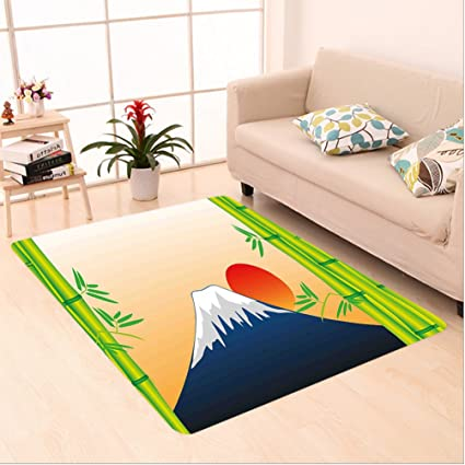 Amazon Com Nalahome Custom Carpet Ure Snowy Mountaintop Fuji At