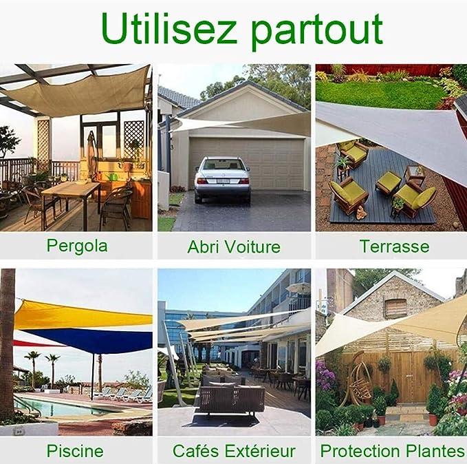N / A Worryfree - Toldo impermeable, protección solar, 95% bloque UV, rectangular, resistente al viento, sombra, garaje y pérgola para jardín, ...