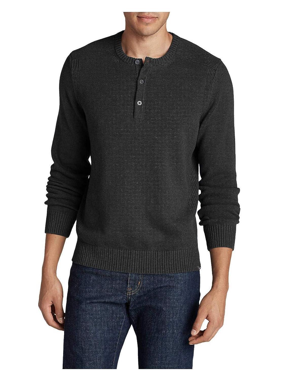 Eddie Bauer Mens Signature Cotton Henley Sweater 10403111