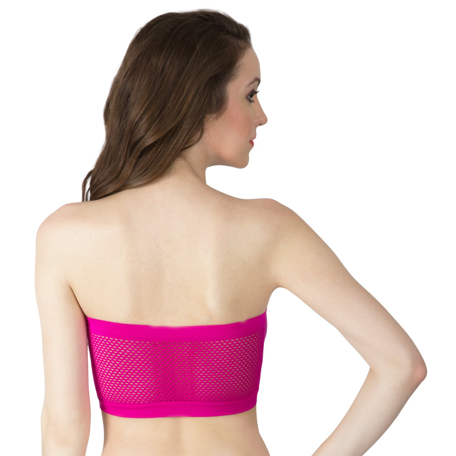 586a6cf0343 SMEXY Women s Magenta Tube Bra Cotton Full Coverage Bra Braa-Htube-Magenta   Amazon.in  Clothing   Accessories