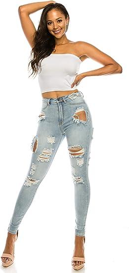 Aphrodite Vaqueros De Talle Alto Para Mujer Pantalones Vaqueros Ajustados De Talle Alto Para Mujer Amazon Com Mx Ropa Zapatos Y Accesorios