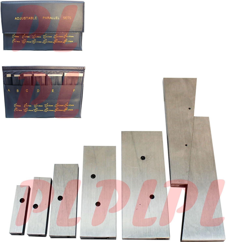 """2-1//4/"""" Adjustable Parallel Set Precision Parallel Measurement 6 Pcs//Set 3//8/"""""""