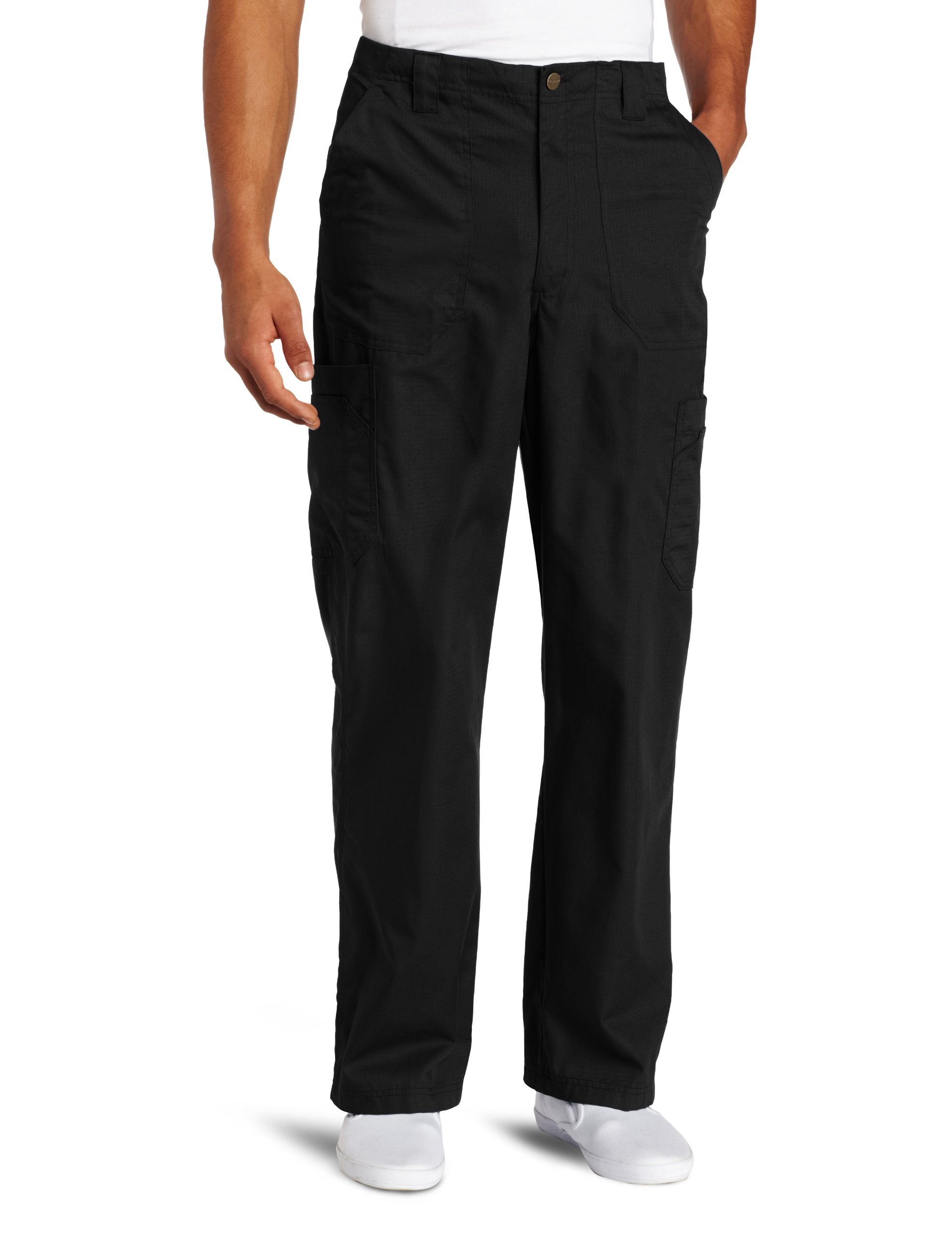 Carhartt Men's Ripstop Multi-Cargo Scrub Pant, Black, X-Large