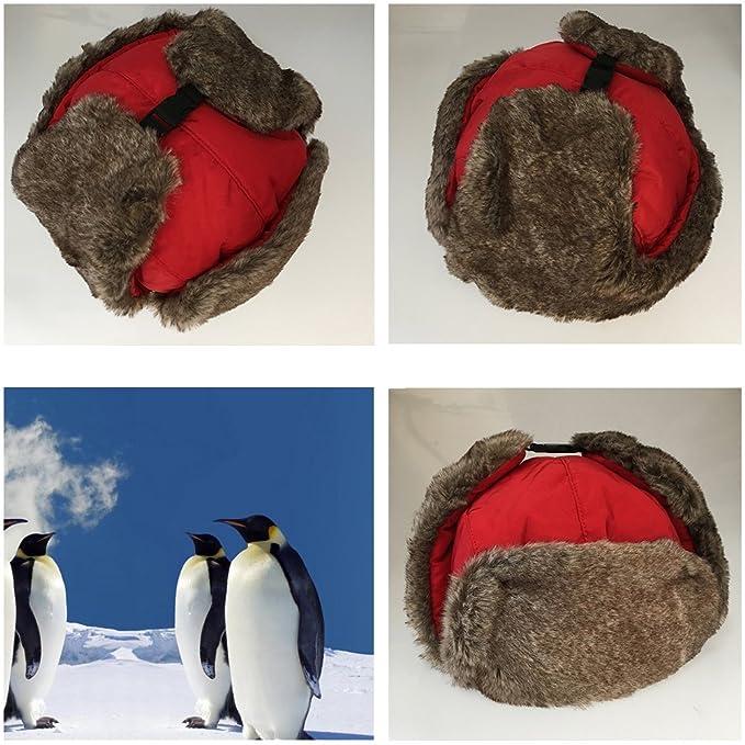 Uomini Donne Inverno Aviatore Cappello Cappuccio Caldo Paraorecchie  Antivento Trapper Bomber (rosso)  Amazon.it  Abbigliamento b7882d838973