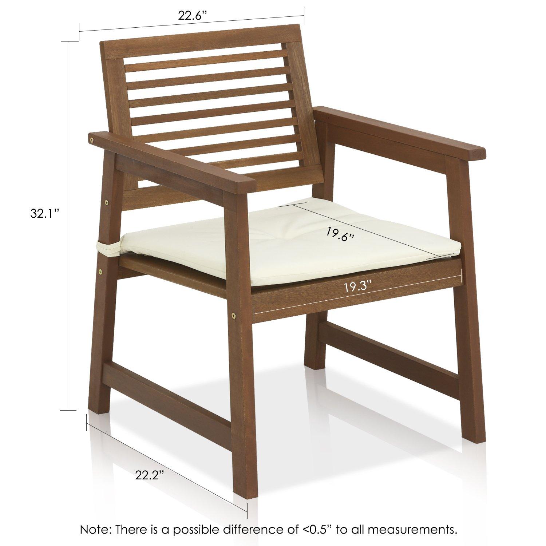 Amazon FURINNO Tioman Teak Hardwood Outdoor Armchair with